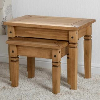 Salvador Nest of Tables - Distressed Waxed Pine