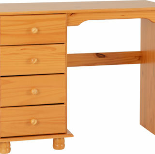 Sol 4 Drawer Dressing Table - Antique Pine