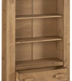 Tortilla 1 Drawer Bookcase - Distressed Waxed Pine