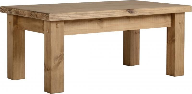 Tortilla Coffee Table - Distressed Waxed Pine