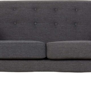 Ashley 2 Seater Sofa - Dark Grey Fabric