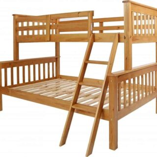 Neptune Triple Sleeper Bunk Bed - Antique Pine