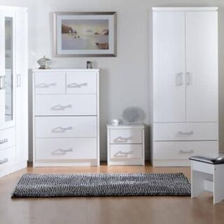 White Bedside Lockers
