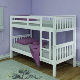 Athens Bunk Single -White