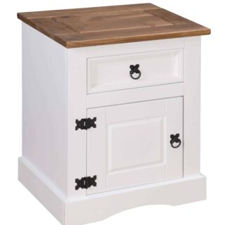 Corona-1-Door-1-Drawer-Bedside-White