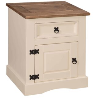 Corona 1 Door 1 DrawerBedside Cream