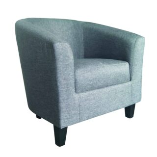Tempo Tub Chair (Charcoal TiffanyFabric)