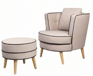 Viscount-Chair-and-Stool-in-Cream