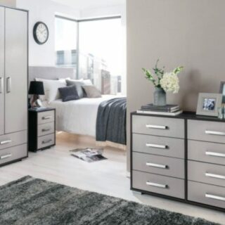 Berlin 4 Drawer Chest-Grey