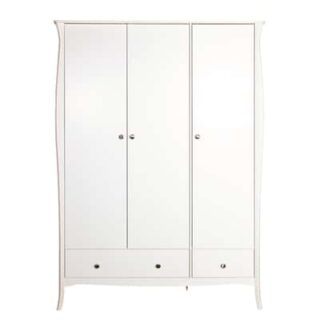 BAROQUE 3 DOOR 3 DRAWER ROBE - WHITE