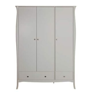 BAROQUE 3 DOOR 3 DRAWER ROBE - GREY