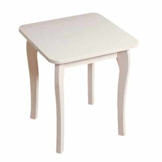 BAROQUE STOOL - WHITE