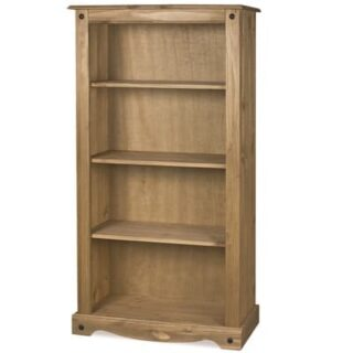 CORONA MEDIUM 3 SHELF BOOK CASE - WAXED PINE