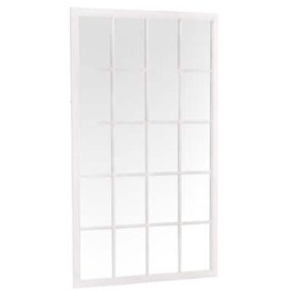 Leaner Window Mirror - White