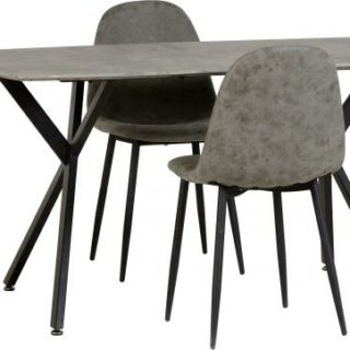 Athens Dining Set - Concrete Effect