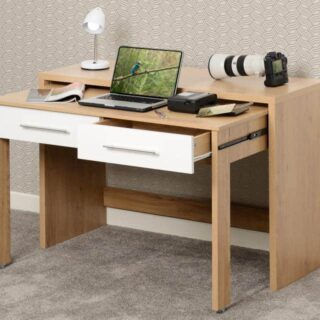 Seville White Slider Desk