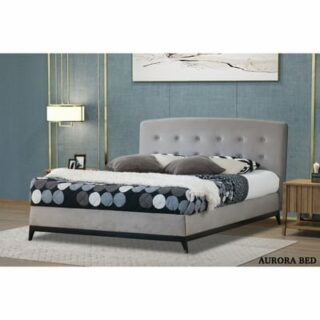 AURORA 4'6 BED - STEEL BRUSHED VELVET