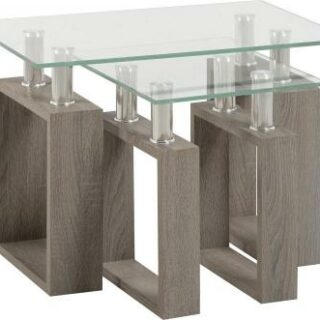 Milan Charcoal Effect Nest of Tables