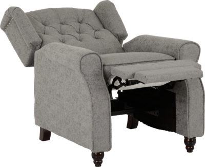 Balmoral Reclining Chair in Grey Fabric