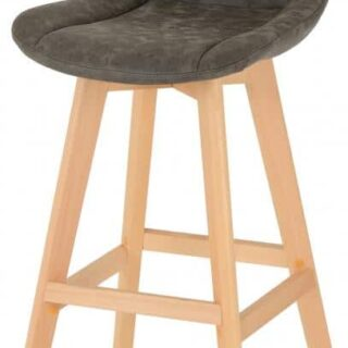 Brisbane Bar Chair (PAIR) in Grey Faux Leather
