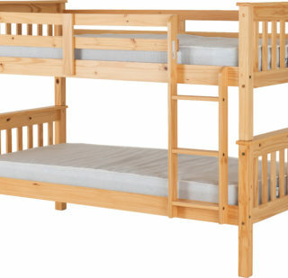 Neptune 3' Bunk Bed in Oak Effect