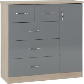 NEVADA_5_DRAWER_LOW_WARDROBE_GREY_GLOSSLIGHT_OAK_EFFECT_VENEER_2020_01_100