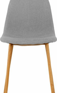 Barley Chairs in Grey Fabric/Oak Effect (Pair)
