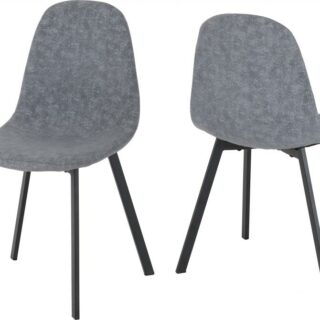 Berlin Chairs in Dark Grey Fabric (Pair)