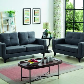 Diana 2+3 Seater (DH339-30 Charcoal Tiffany Fabric)