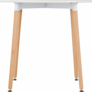 Lindon Dining Table in White/Natural Oak