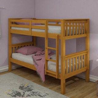 Athens Single Bunks Oak