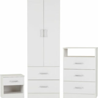 Alaska Bedroom Set in White