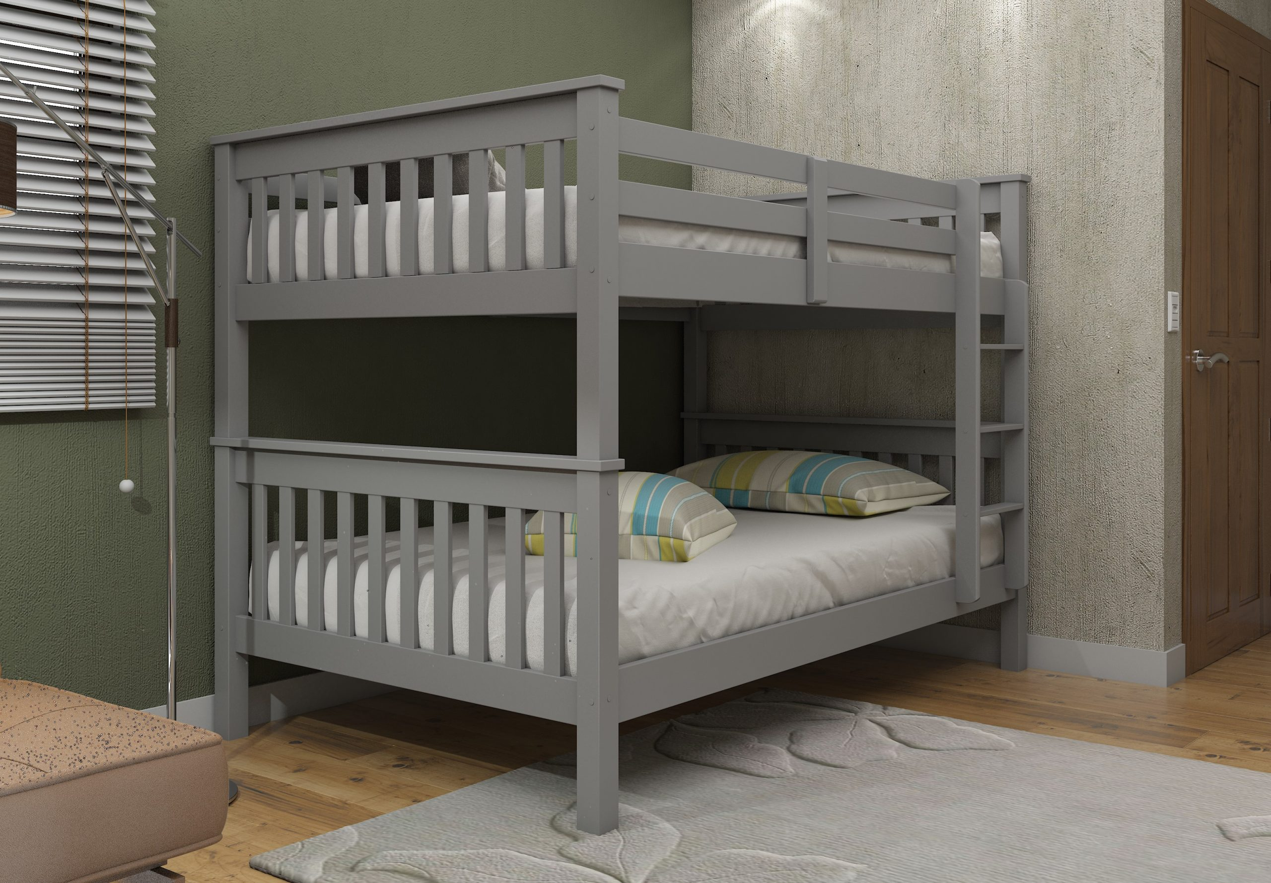 Athens Quad Bunks In Grey Low Cost Furniture Direct